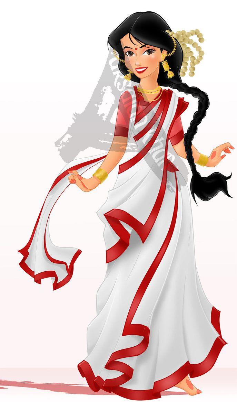 687x1163 A Beautiful Bengali Woman By Arsalankhanartist Elena Of Avalon