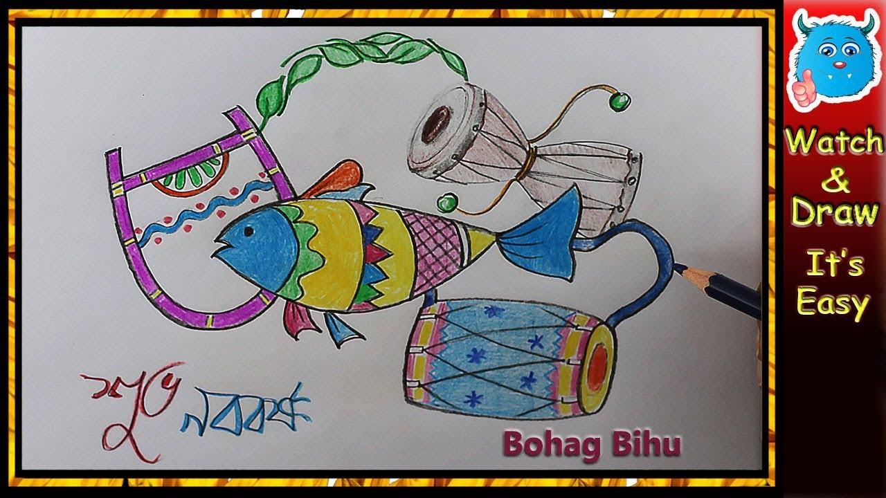 1280x720 Bengali New Year Pohela Boishakh Drawing Idea For Greeting Card