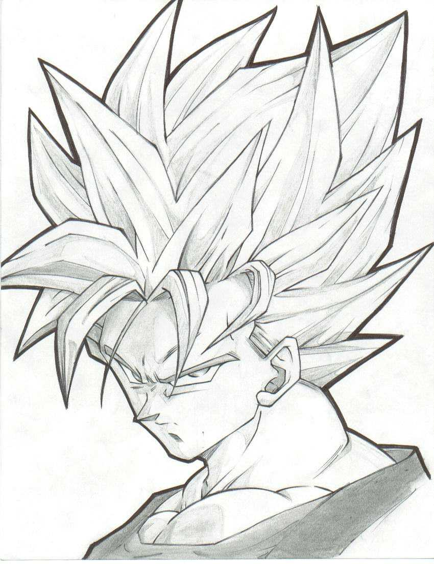 850x1103 Collection Of Best Goku Drawing Ever High Quality, Free