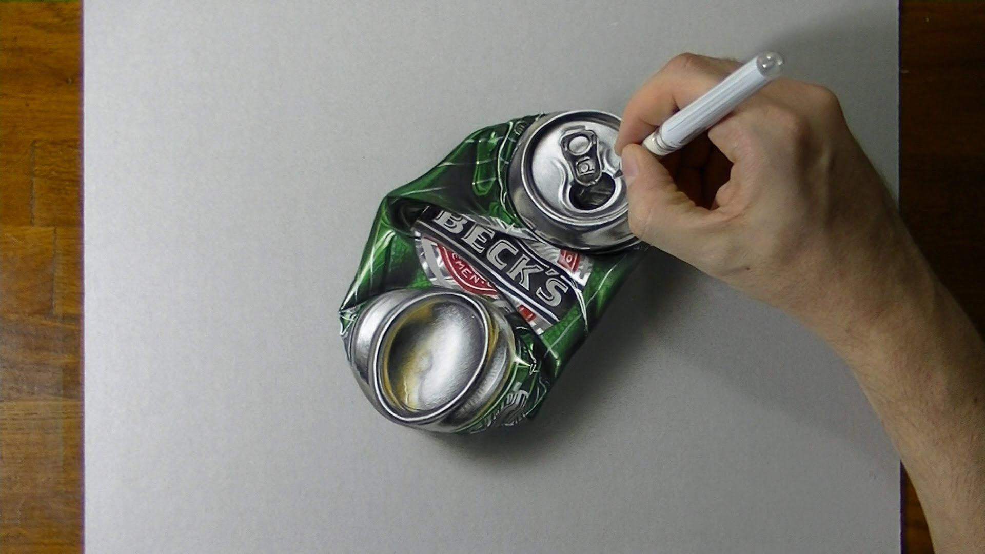 1920x1080 Drawing Time Lapse A Crushed Can Of Beer