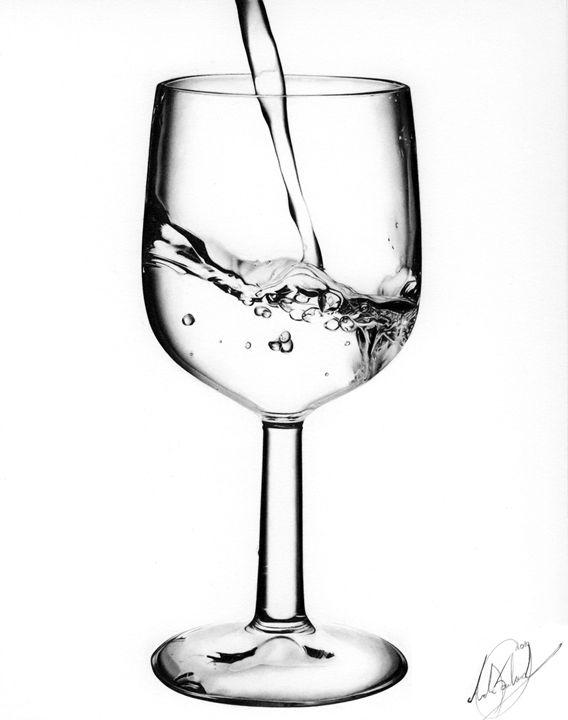 568x720 Wine Glass Pencil Drawing
