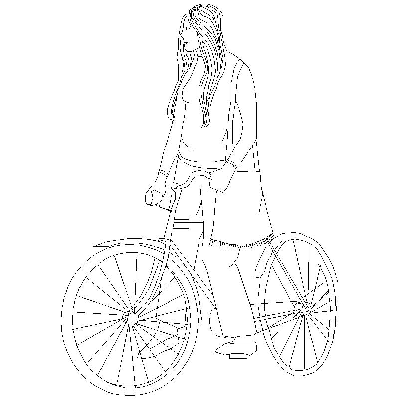 800x800 Bike Cad Block Free Download
