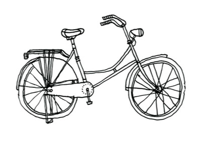 398x293 Bike Drawing Coloring Page 2019