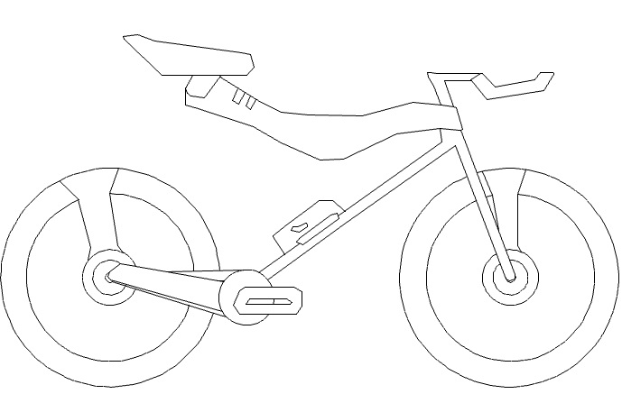 bike drawing in autocad at getdrawings com