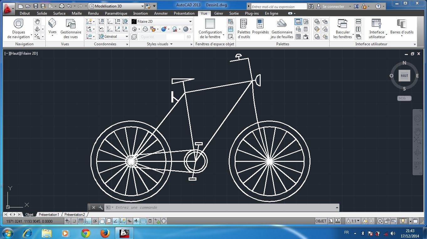 1363x765 Autocad 2d Bicyclette