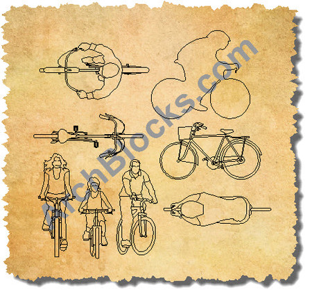 450x426 Autocad Blocks Of Bikes And People Cad Bike Symbols People