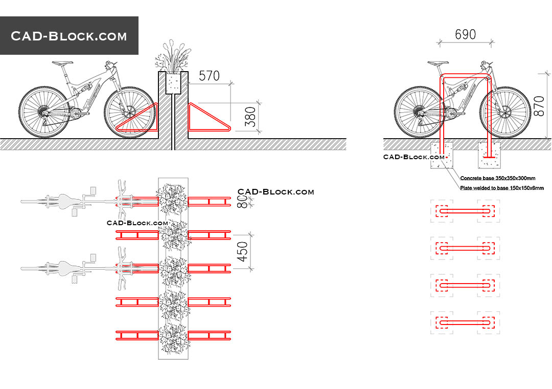 1080x760 Bicycles Cad Blocks Free Download, Autocad Drawings