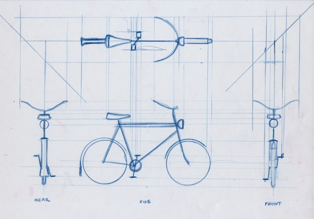 1024x713 Orthographic Bike. Orthographic Drawing