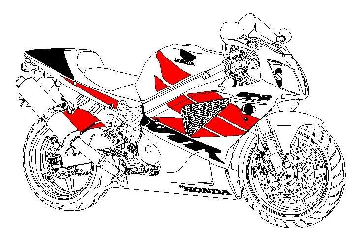 728x474 Superbike Cad Block