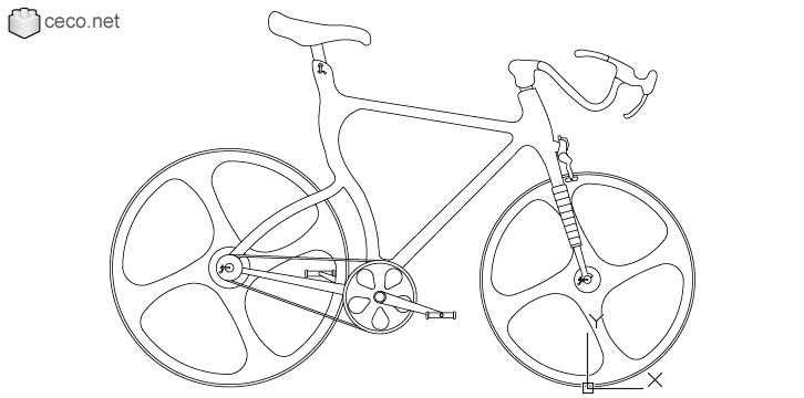 726x360 Autocad Drawing High Tech Bicycle Carbon Fiber Frame Bike Dwg