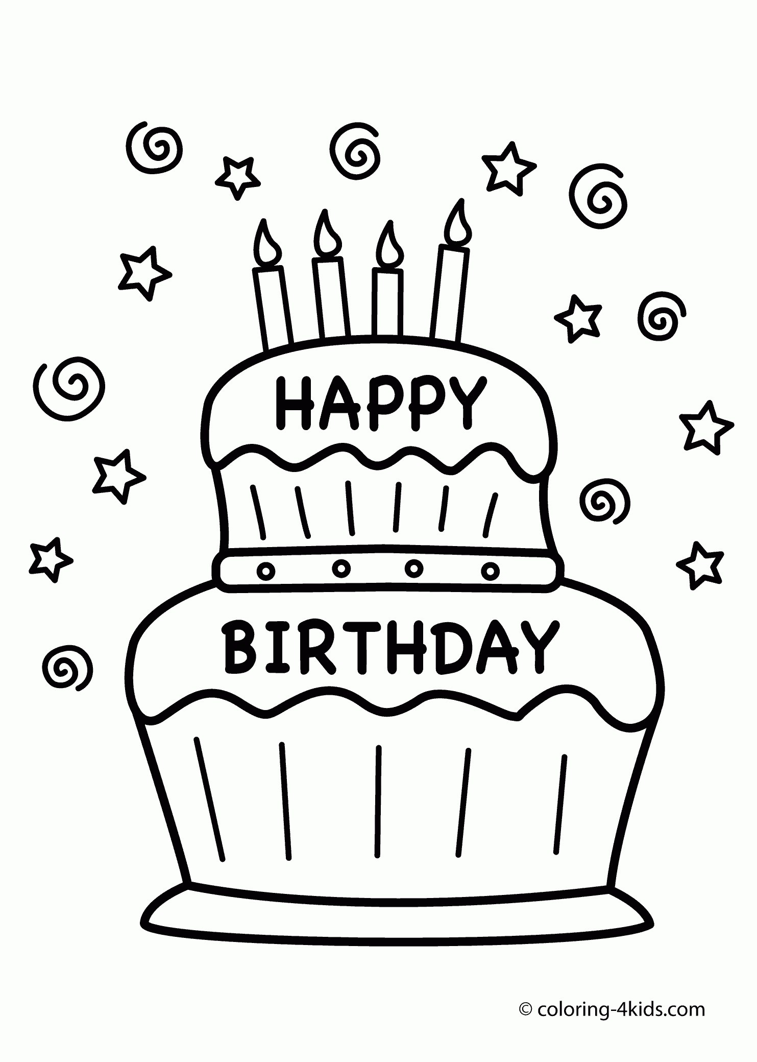 1483x2079 Cake Coloring Book New Coloring Book Birthday Cake Best Happy