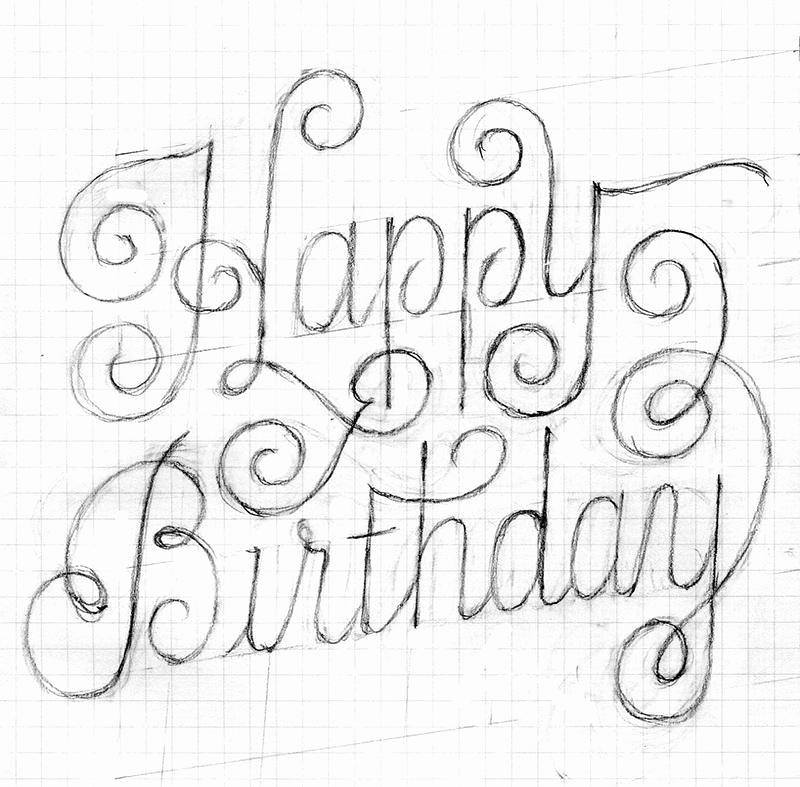 800x787 Sketch Of Birthday Card Choice Image