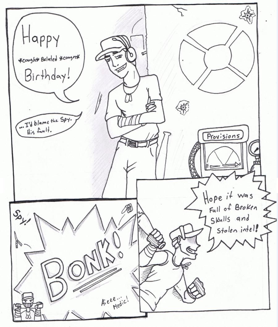 900x1058 Tf2 Scout's Birthday Wishes By Karianasan