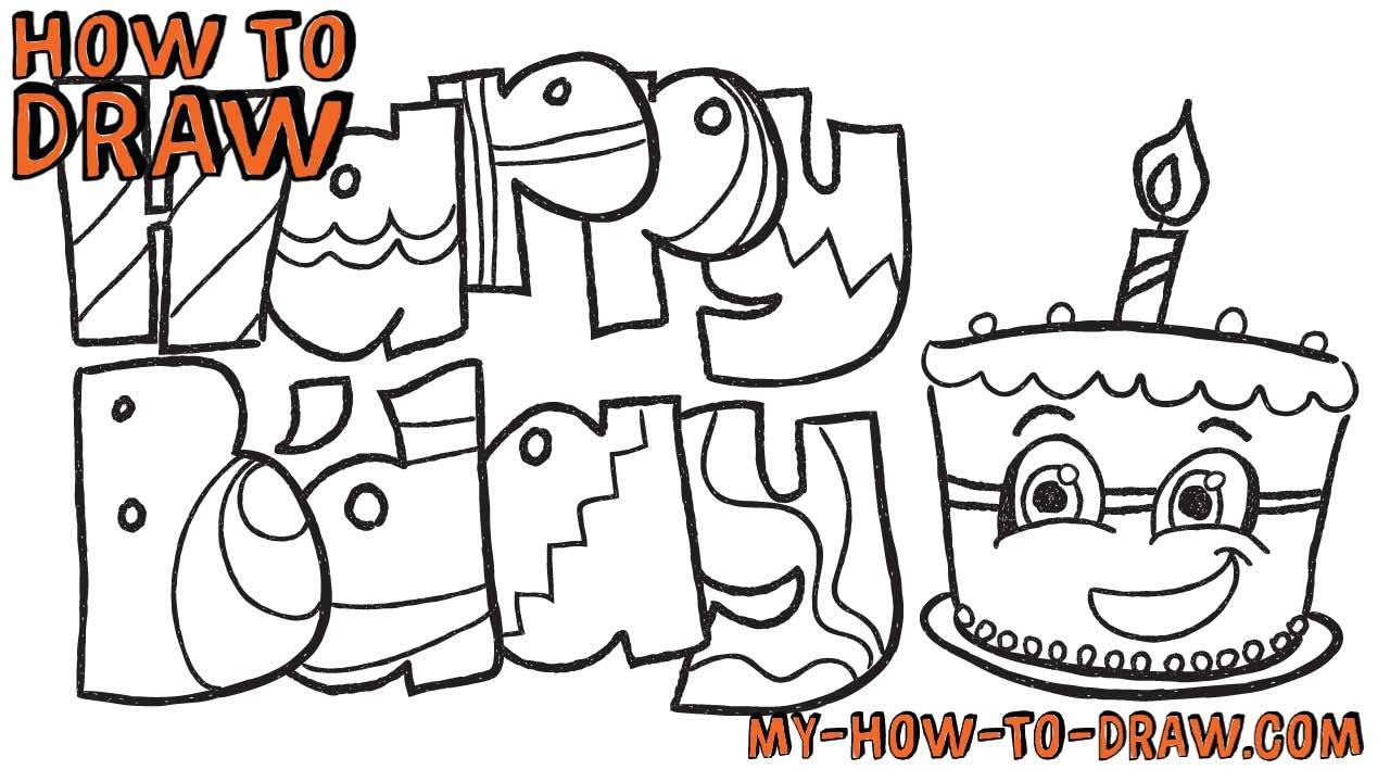 1280x720 How To Draw Happy Birthday Cards