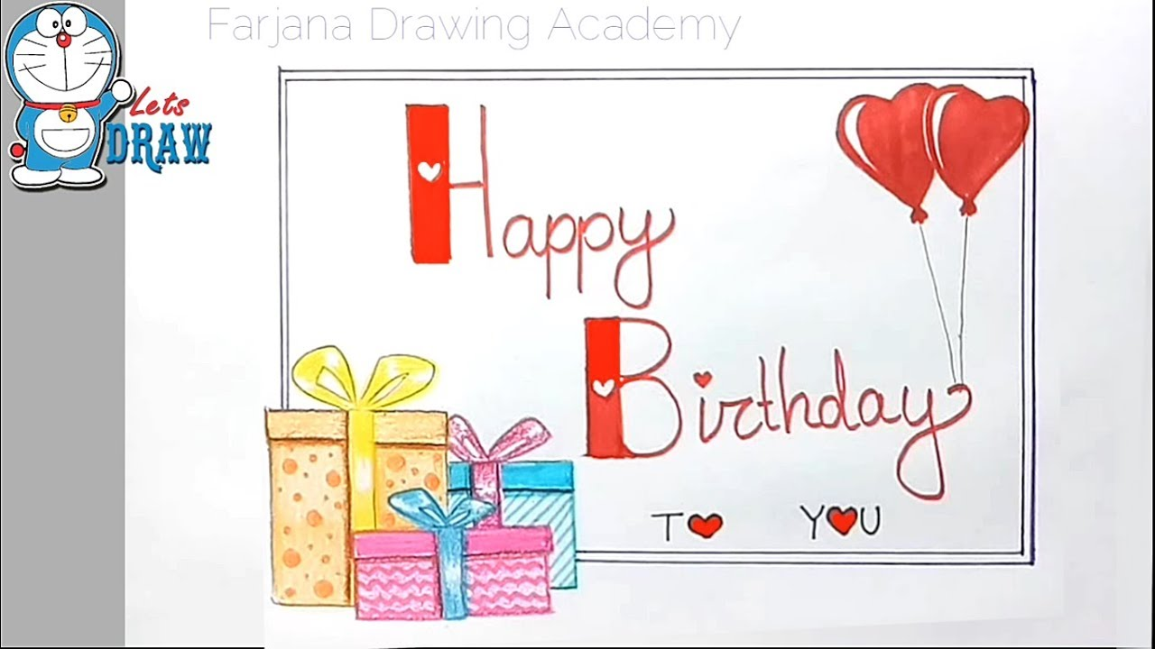 1280x720 How To Draw Happy Birthday For Birthday Wishes Step By Step