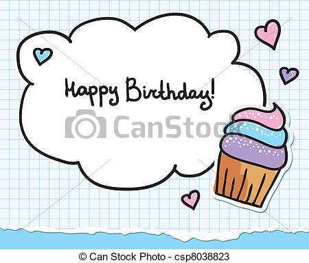 450x384 Birthday Greeting Cards Drawing Birthday Greeting Card Eps Vectors