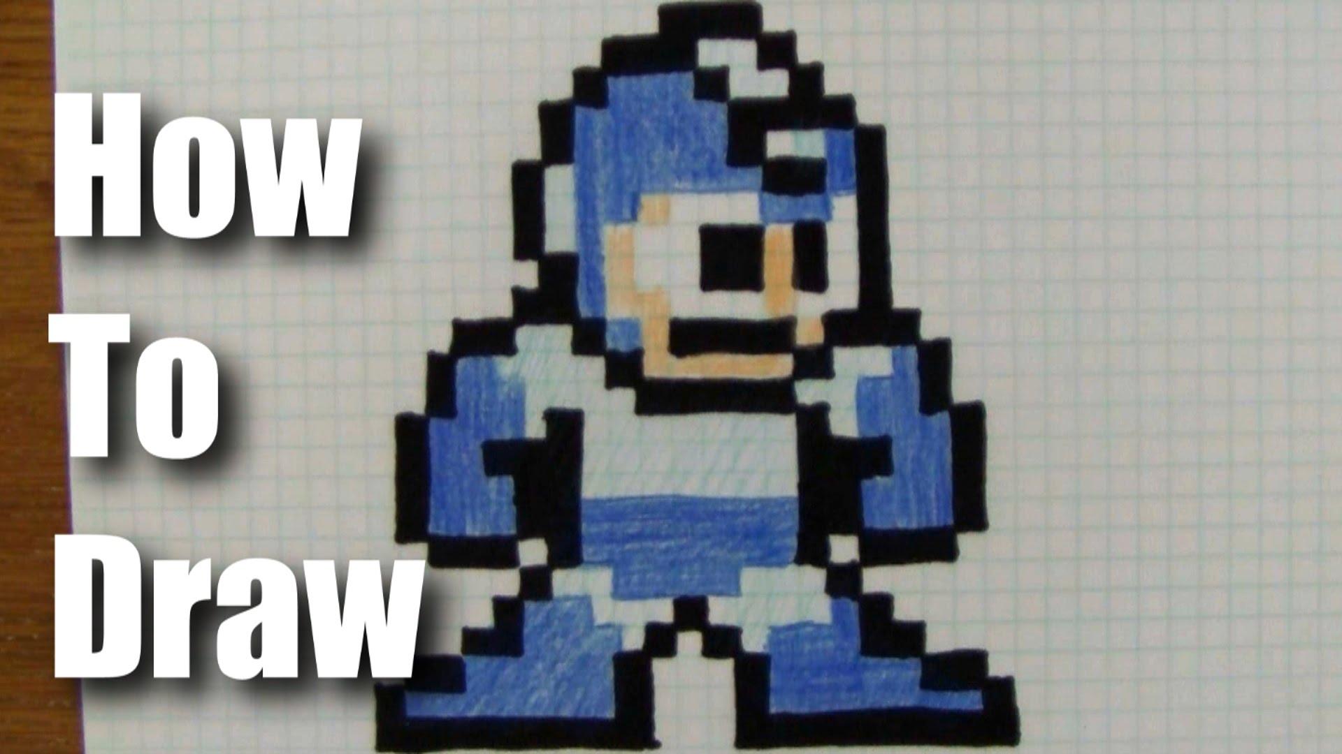 1920x1080 How To Draw 8 Bit Mega Man