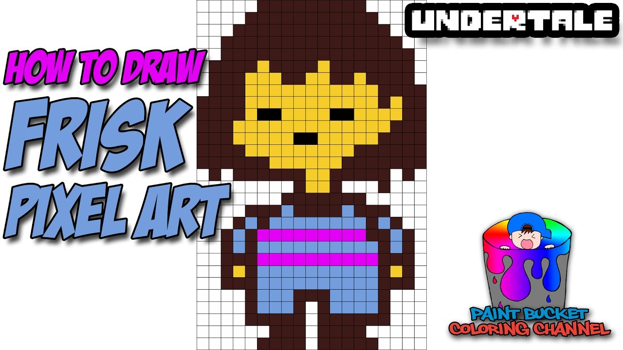 1280x720 How To Draw Frisk Pixel Art 8 Bit