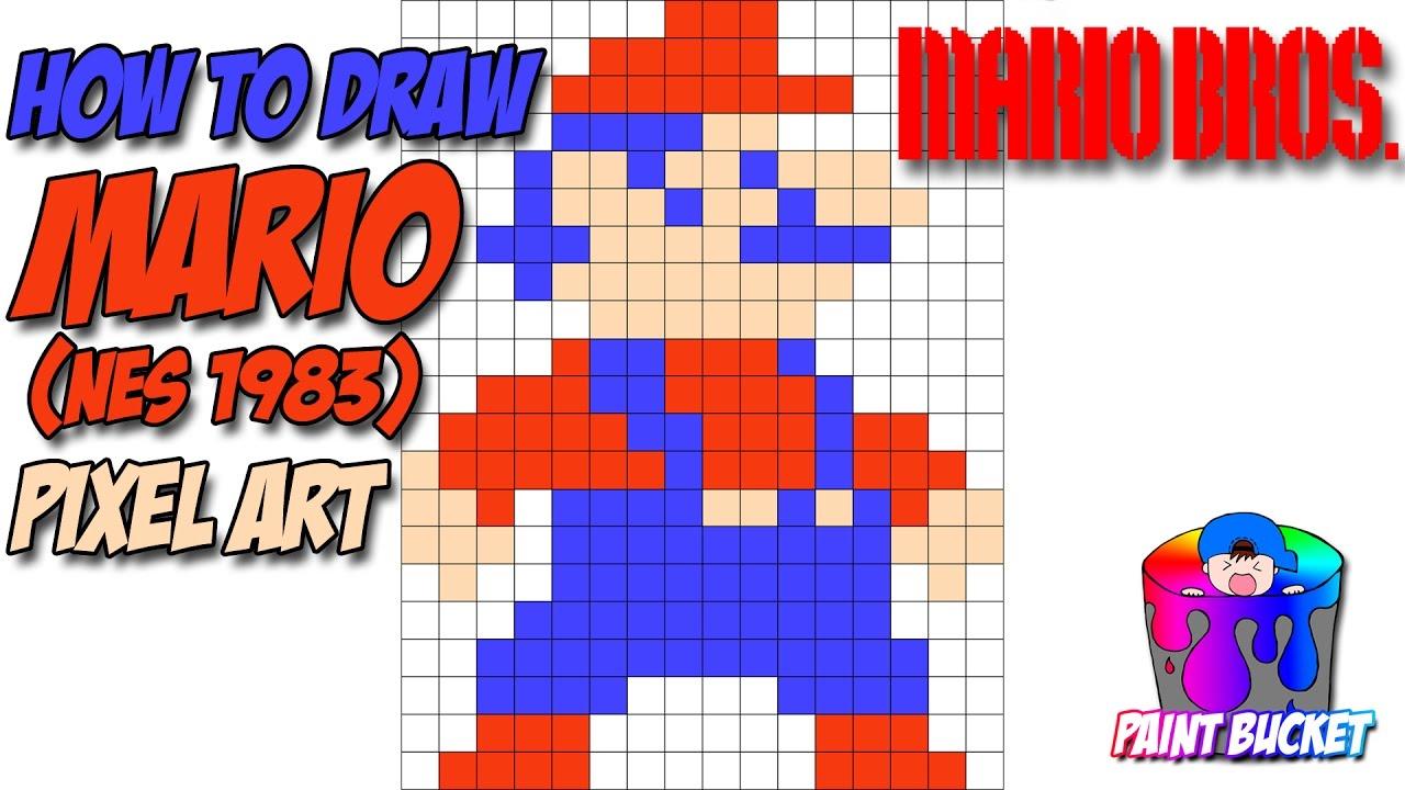 1280x720 How To Draw Mario Pixel Art 8 Bit