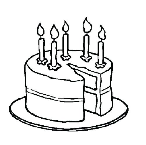 500x494 Cake Black And White Birthday Free No Candles Clipart Wiki Sellit
