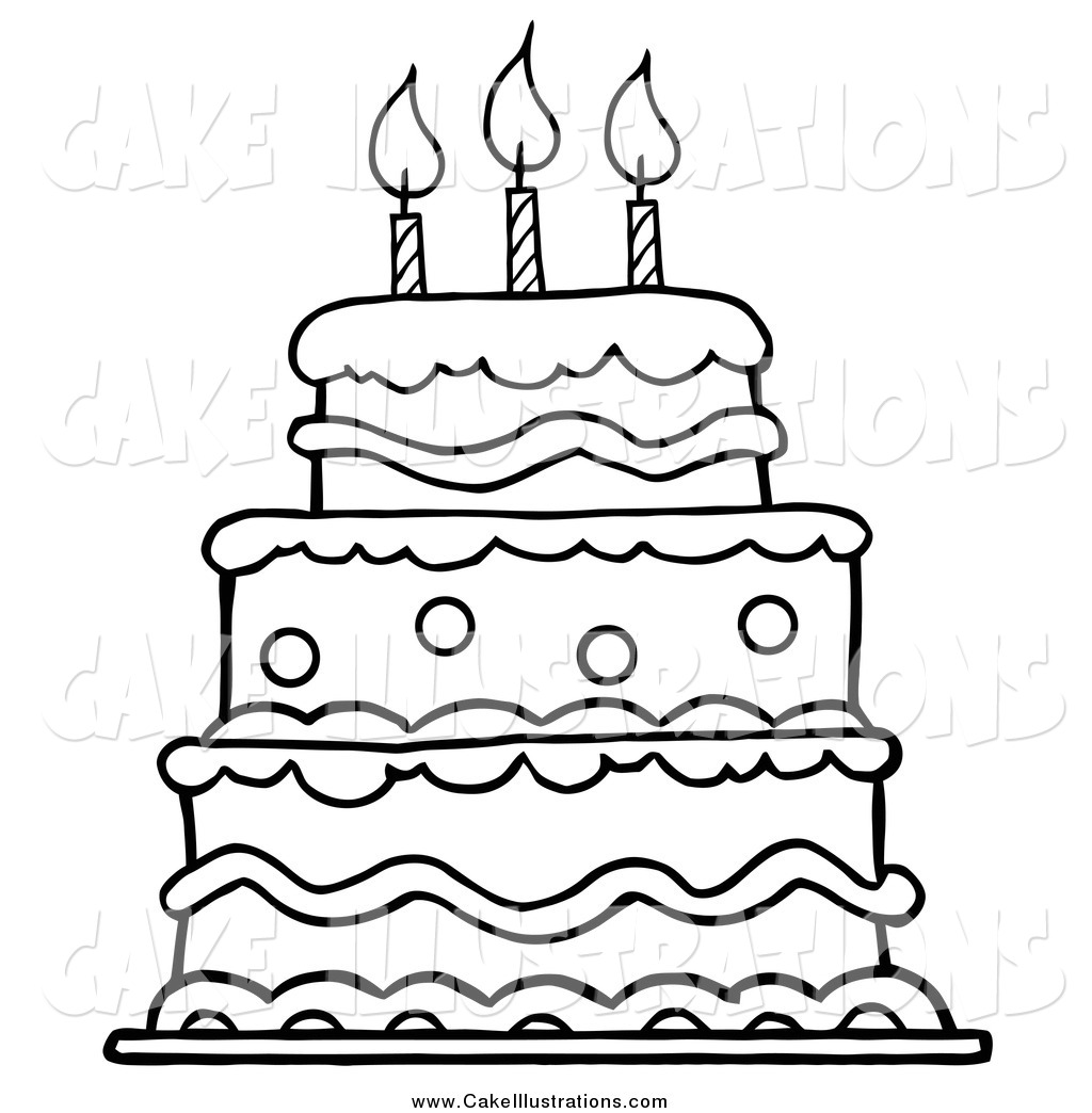 1024x1044 Collection Of Black And White Cake Drawing High Quality
