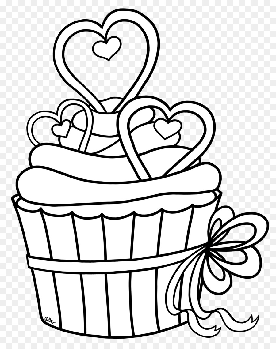 900x1140 Cupcake Drawing Black And White Coloring Book Clip Art