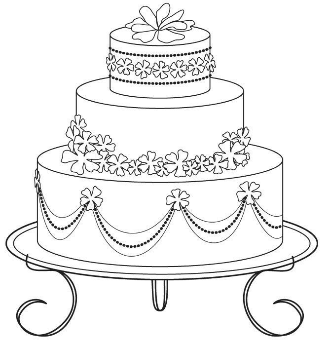671x699 The 215 Best Coloring Cake's Images On Coloring Books