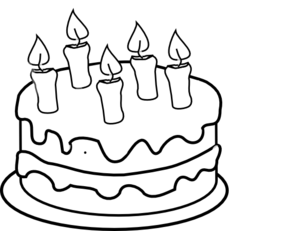 299x231 Collection Of Cake Black And White Drawing High Quality