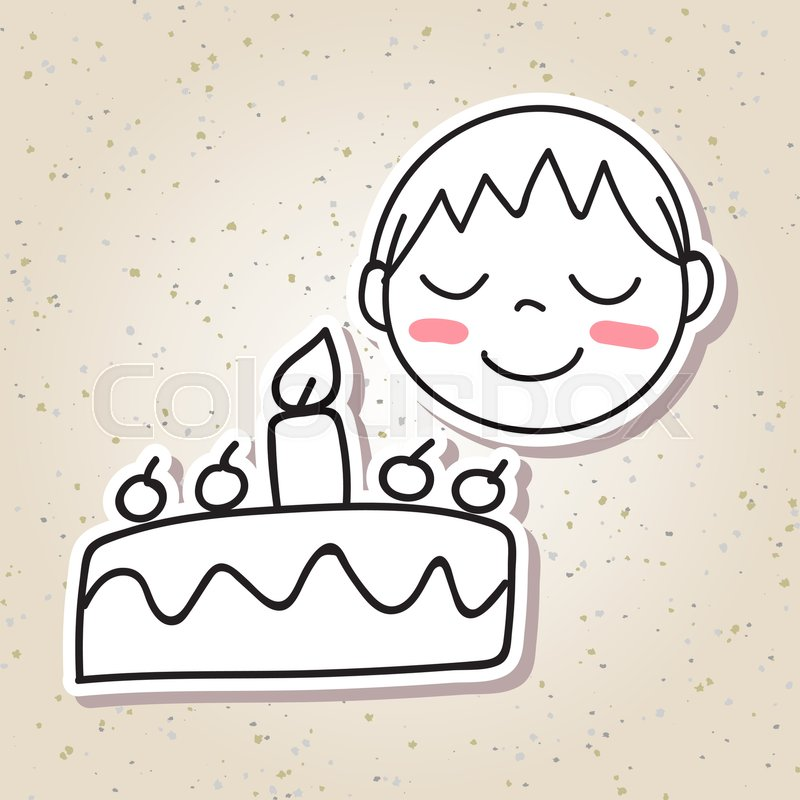 800x800 Hand Drawing Cartoon Concept Happiness, Happy Kid, Boy Smile