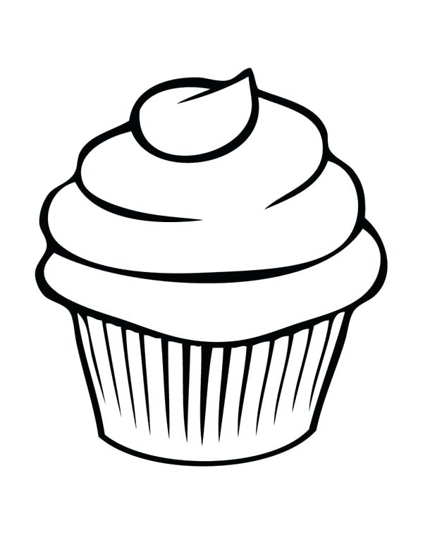 600x776 Coloring Pages Cupcakes Cupcake Black And White Cupcake Drawings