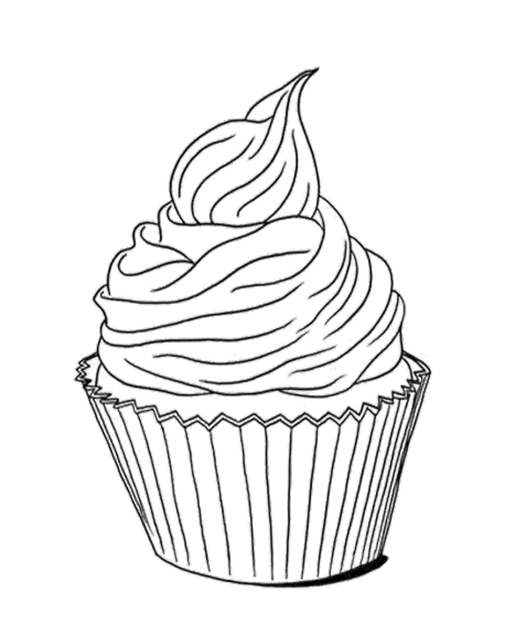 2000x2457 Cupcake Drawing Black And White At Getdrawings Com Free