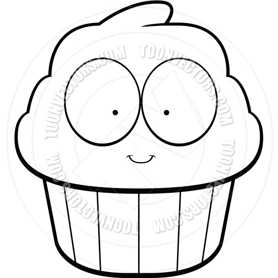 940x940 Cupcake Drawing Black And White At Getdrawings Com Free For Simple