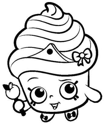 351x419 Shopkins Cupcake Queen Black And White