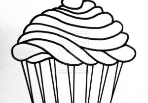 300x210 A Drawing Of A Cupcake