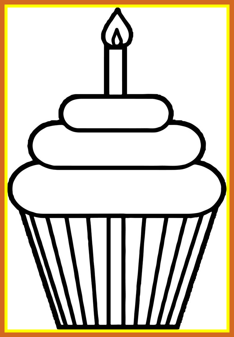 786x1131 15 Ideas Of Cupcakes Images Clipart Black And White