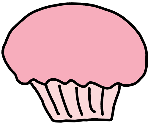 508x423 Black And White Cupcake Clipart Cupcake Clipart