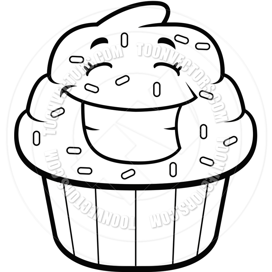940x940 Black And White Cupcake Drawing Cupcake Clipart Black And White