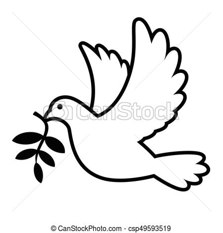 450x470 Dove Carrying Olive Branch. White Dove Carrying Olive Branch