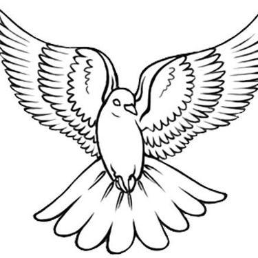 375x375 Dove Peace Tattoo Design White Dove Tattoos, Dove Tattoo Design
