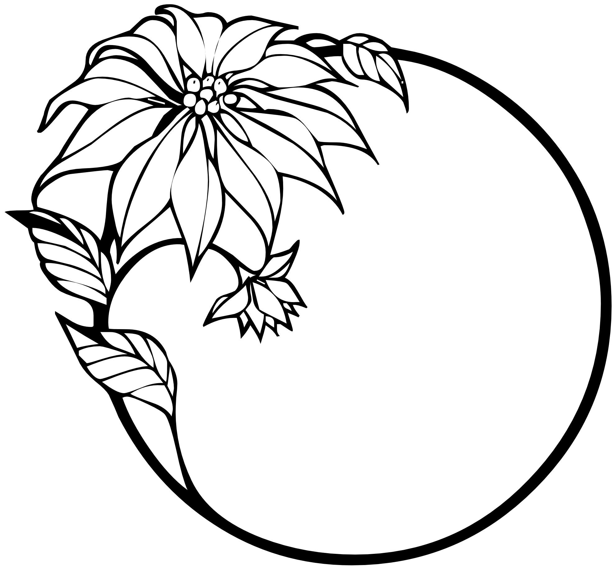 1979x1834 Simple Flowers Black And White Drawing