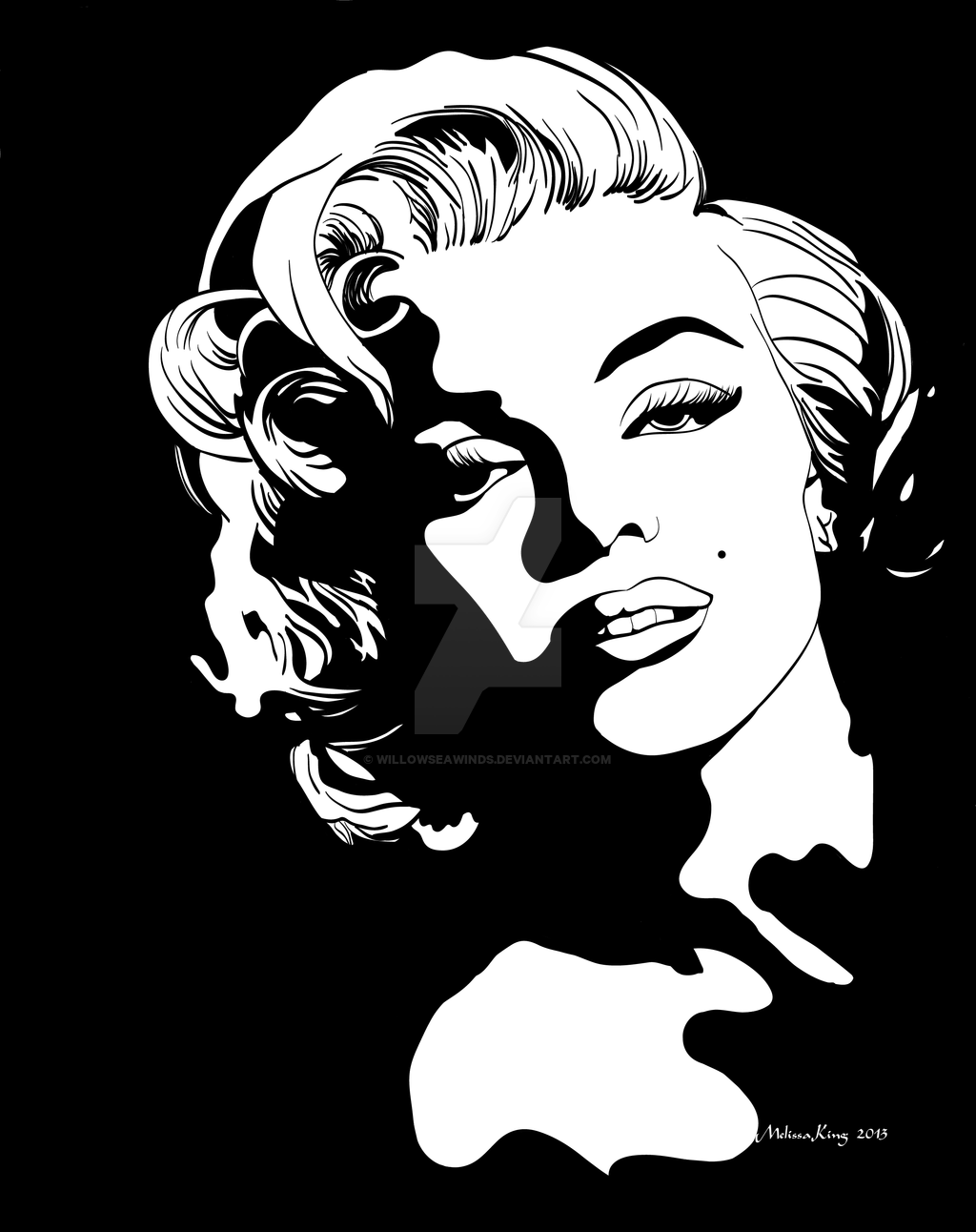 1024x1292 Collection Of Marilyn Monroe Black And White Drawing High