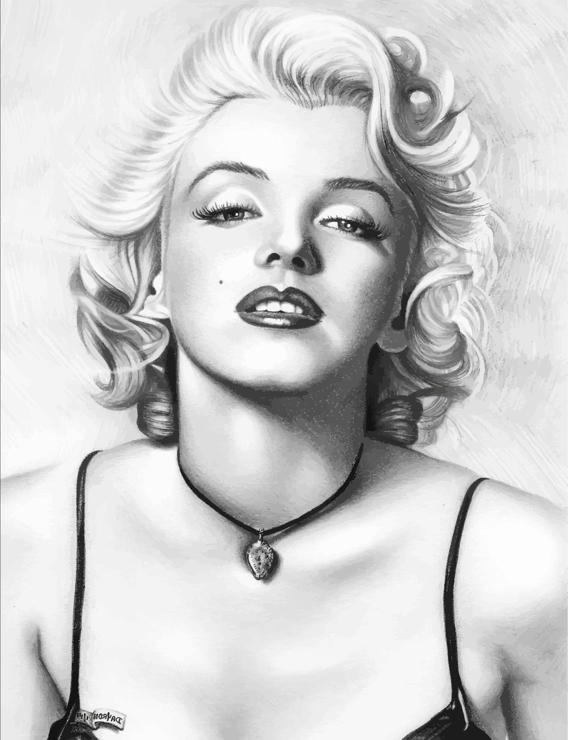 1844x2400 Marilyn Monroe Pencil Sketch Alt=marilyn Monroe Pencil Drawing