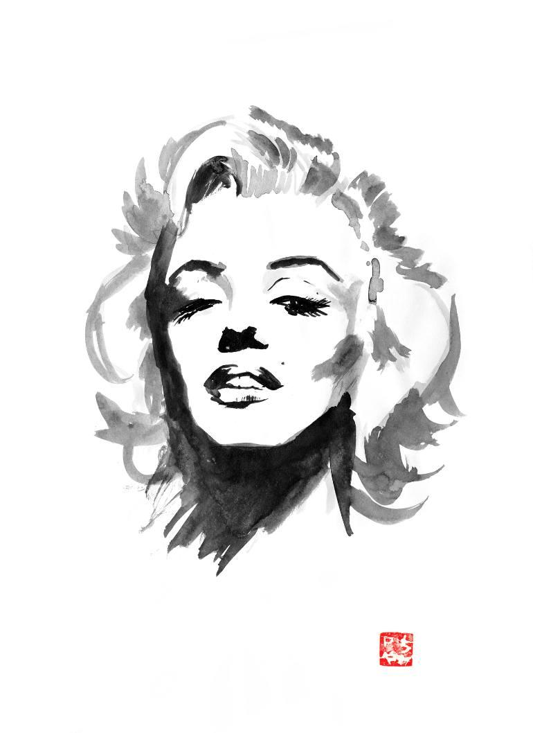 770x1058 Saatchi Art Marilyn Monroe Painting By Pechane Sumie