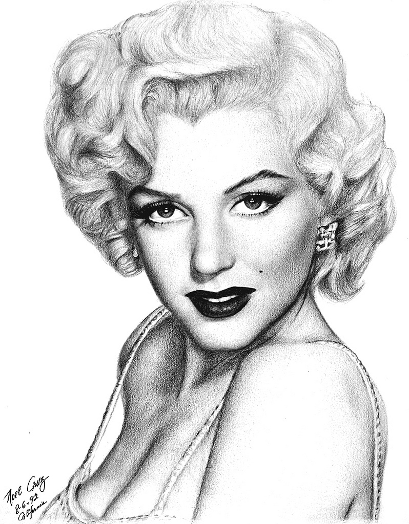 798x1024 Marilyn Monroe Portrait Large
