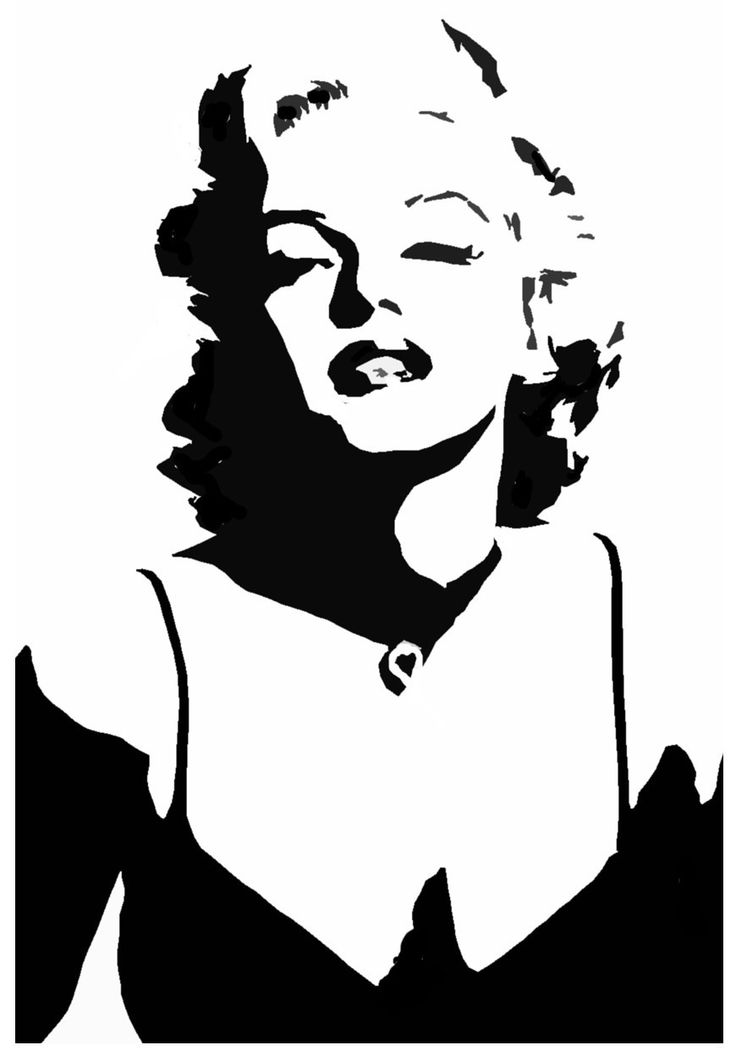 736x1056 Collection Of Marilyn Monroe Shadow Drawing High Quality