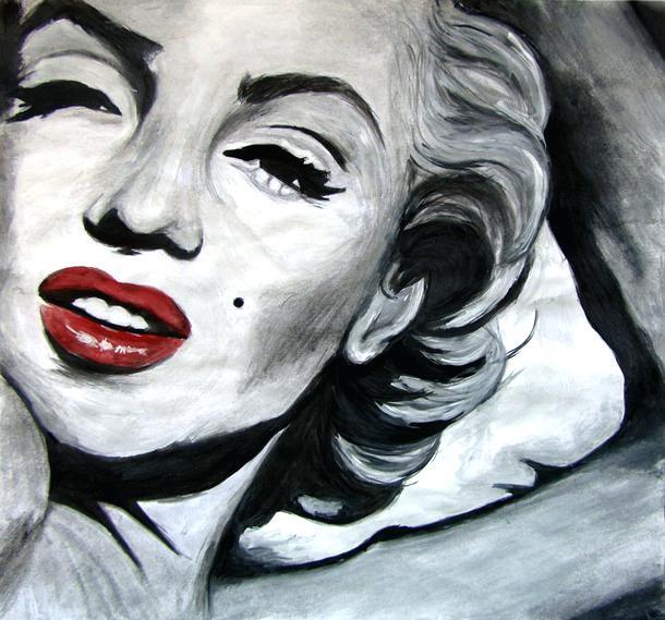 610x569 Marilyn Monroe Art Black And White Posters Banota