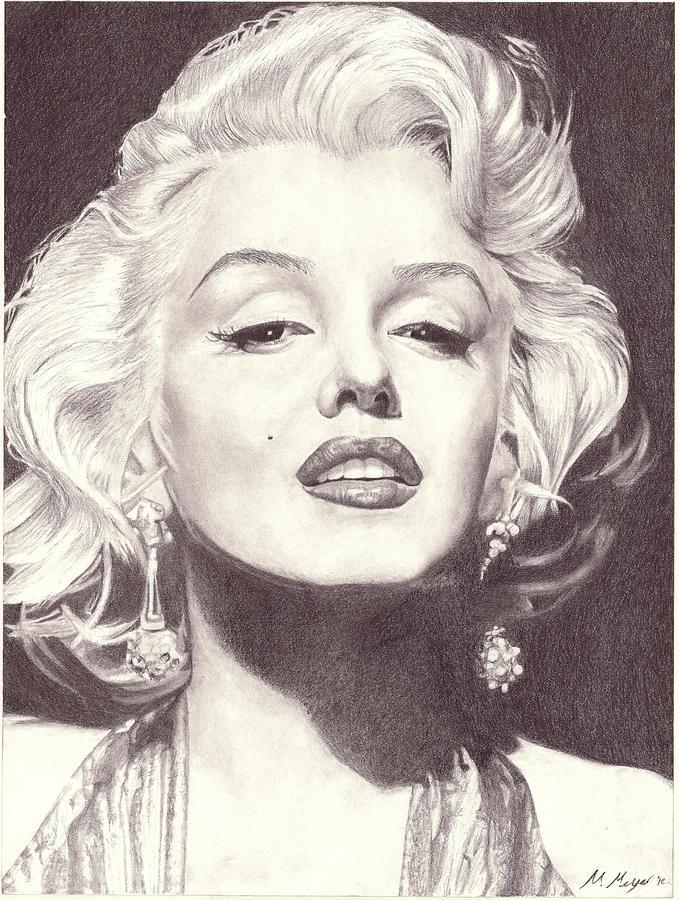 679x900 Marilyn Monroe Black And White Drawings Fine Art America