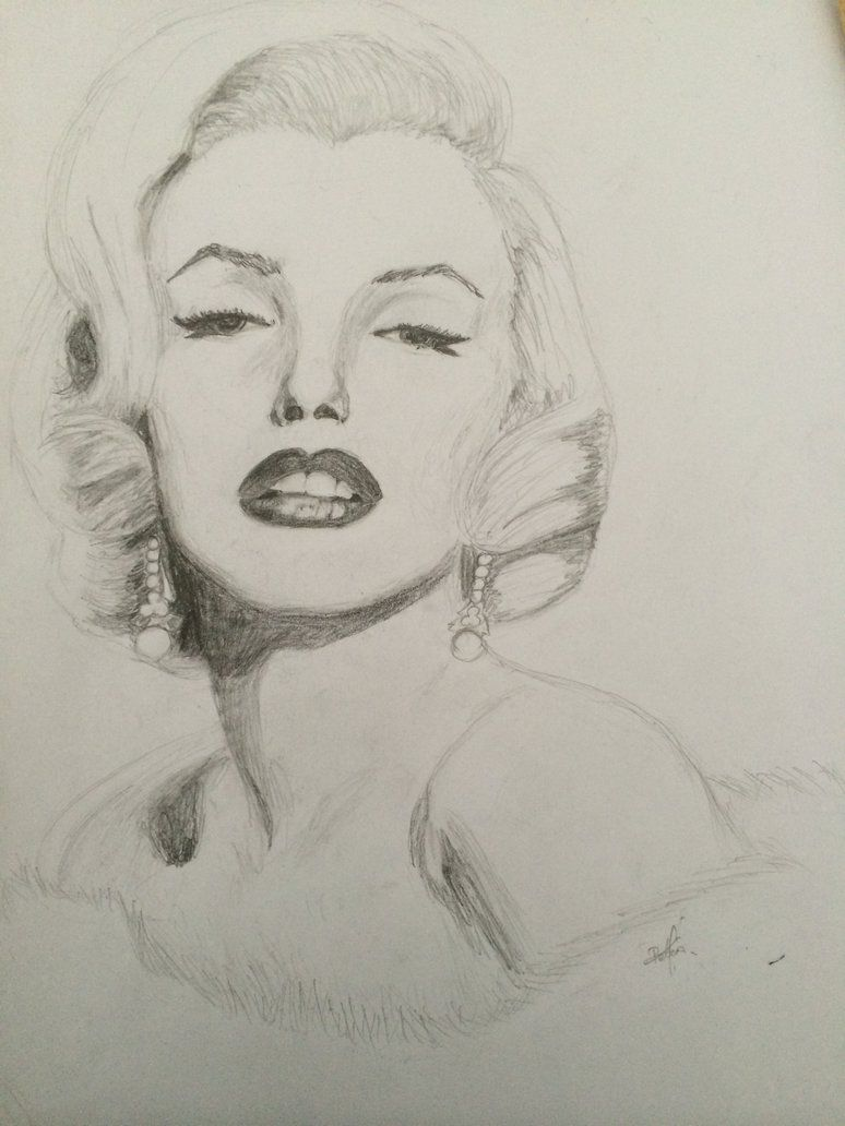 774x1032 Marilyn Monroe Black White Drawing By Pelinmerve