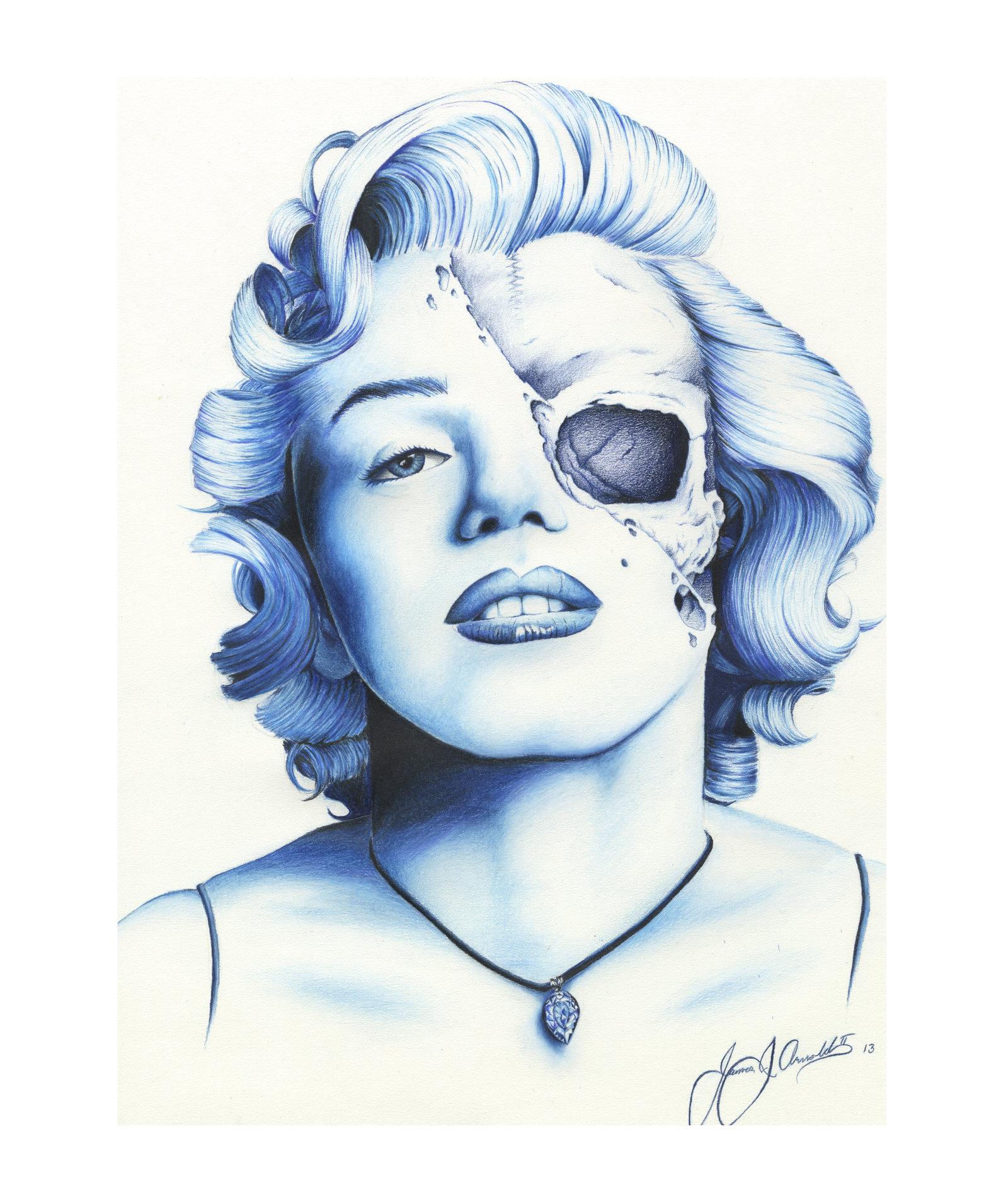 1600x1894 Marilyn Monroe By Jeffarnoldart