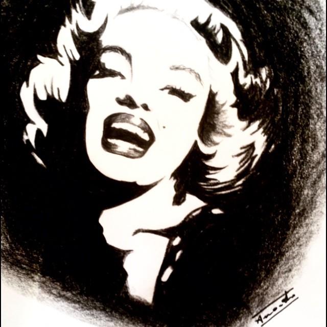 640x640 Marilyn Monroe Negative By Amygrotti12